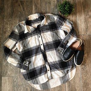 Athleta Heat Gen Flannel Shirt 2.0 in Black Dove